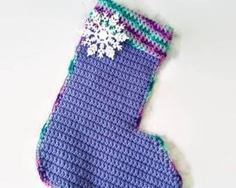 Purple christmas stocking | Etsy
