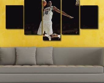 Kobe Bryant Poster Kobe Bryant Canvas Lakers Print Painting Wall Art Split Canvas Large Framed Poster