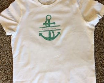 Personalized Anchor Shirt with name