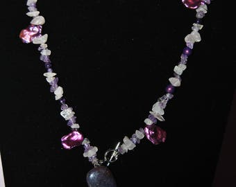 Amethyst & Rose Quartz Necklace