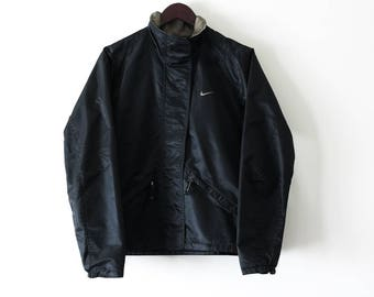 NIKE Women Black Rain Jacket . Sz M. 2000s