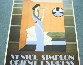 "Vintage ""Orient Express"" poster."