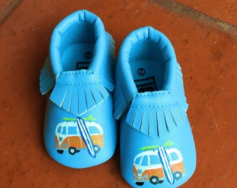 Surf's Up Baby Moccasins