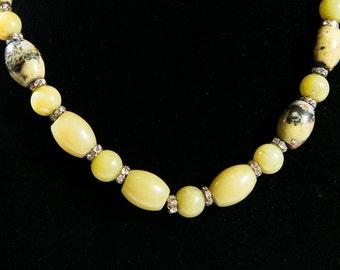 Lemon Yellow Citrine Necklace(DF/NL/NOO96)