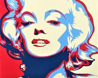 Marilyn Monroe Pop Art Painting
