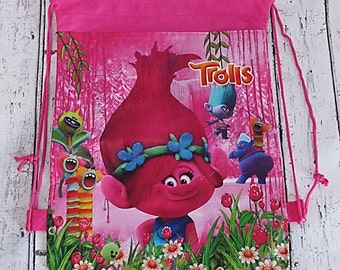 Poppy Trolls Disney Children pink backpack rucksack