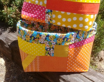 Scrappy Fabric Bins