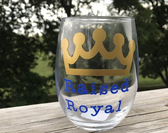 Raised Royal Stemless Wine Glass