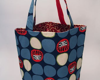 Cute Daruma Doll Tote Bag