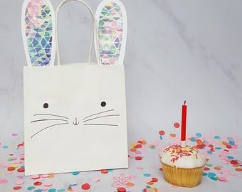 Bunny Rabbit Party Favour Gift Bags - Birthday, Kids, Baby Shower