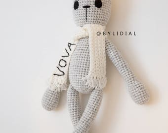 Crochet Bunny Rabbit Stuffed Animal Toy