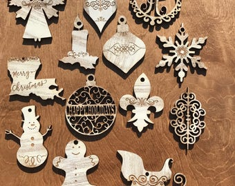 Christmas Wooden Ornamnet Set