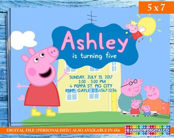 Peppa Pig Invitation, Peppa Pig Birthday, Peppa Pig Birthday Invitation, Peppa Pig Invites, Peppa Pig Printables