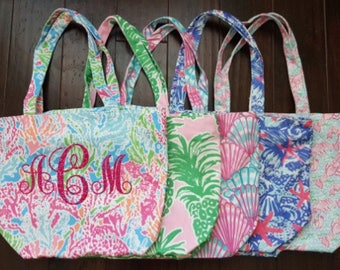 Monogrammed Lilly Pulitzer Inspired Tote