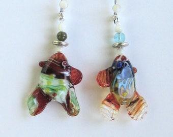 Glass Fish Earrings