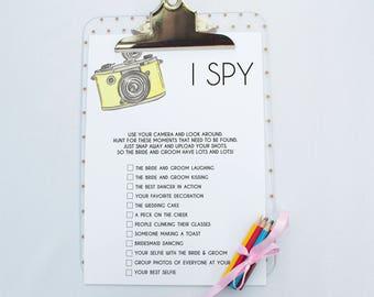 I Spy Wedding Game | Printable Wedding Game | Printable Cards | Wedding Game Cards | Kids Wedding Activities | Kids Wedding Game