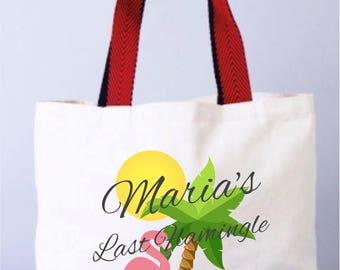 Beach Wedding Party, Beach Wedding Bag, Flamingo Bachelorette Party Totes, Wedding Welcome Tote Bag, Florida Bags, Destination Wedding Bags