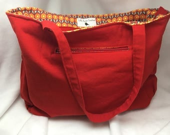 Red Poppy Weekend Tote