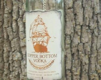 Copper Bottom Vodka with Wooden Ship Wheel