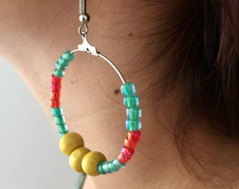 Earrings Creole style summer