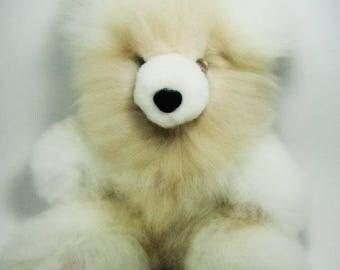 ON SALE! 15 IN Alpaca Fur Teddy Bear Real Alpaca fur-Stuffed Toy -Peruvian Toy from Artisans Alpaca Stuffed Animals