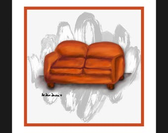 Orange Love Seat (#3 in the Love Seat Collection)