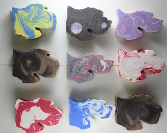 BLEMISH/CLEARANCE - Mystery Grab Bag 4 - 3 Bars - Michigan Shaped Michigan Made Soap - Quality, Luxurious, Vegan Oils