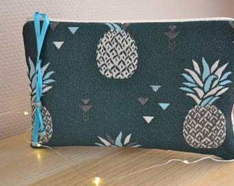 "Clutch - evening bag ""pineapple & company""."
