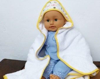"Baby range ""Bird"" model ""CopaCabana"" hooded bathrobe"