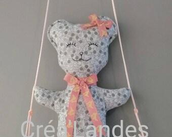 Mobile drift wood Teddy bear nursery decor kids baby birth gift