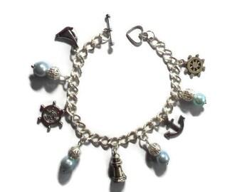 Charms/Theme sailor/glass Pearl Beads Bracelet / gift idea