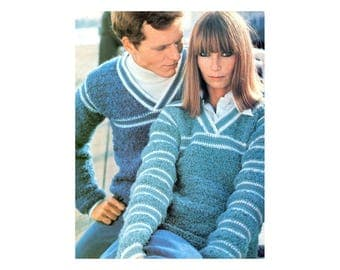His & Hers Pullovers Crochet Pattern