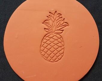 Pineapple Round Coaster Set (set of 4)