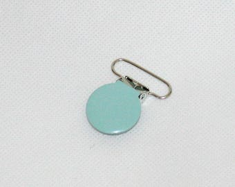 1 clip clip Clip-pacifier/Soother/blanket/strap metal blue