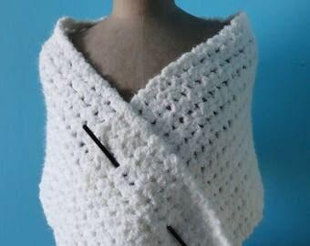 wide white shawl