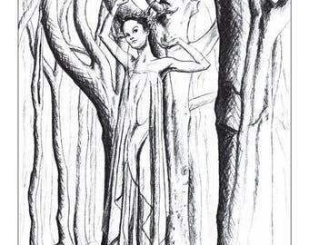 """Illustration """"Forest spirit"""""""