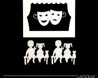 lot cutouts show Theater kids scrapbooking cut paper embellishment die cut creation