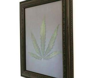 Framed Hemp Leaf