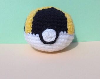 Pokémon made crochet pokeball