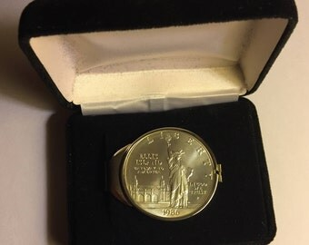 1986 P Ellis Island Commemorative Silver Dollar Money Clip