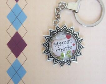 """Gift for MOM: """"Dear MOM"""" keychain"""