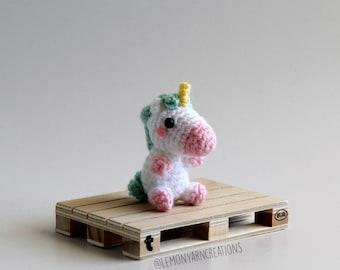 Magical Unicorn Crochet Amigurumi Plush Keychain