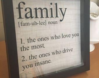 Family Definition Shadow Box