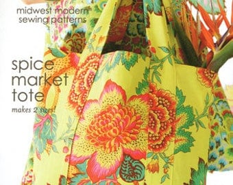 Spice Market Tote pattern in 2 sizes from Amy Butler Designs