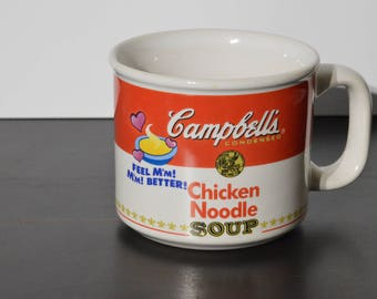Vintage Campbell's Chicken Noodle Soup Mug - Soups Cup Campbell Kitchen Dining