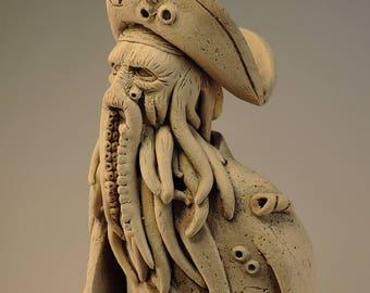 Davy Jones Figurine Pirate Ceramic Sculpture