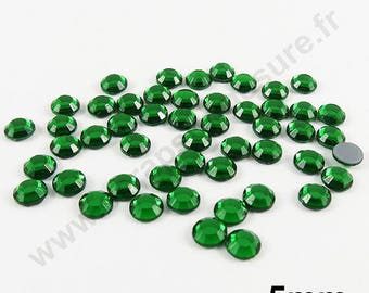 Rhinestone Thermo - Pine Green - 5mm - x 50pcs