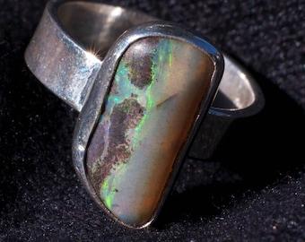 Opal ring -Andamooka- (sterling silver)