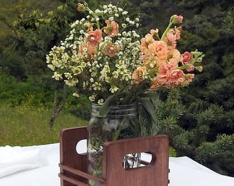 Rustic Wedding Table Centerpiece - Wood - Rustic Wedding - Table Decoration