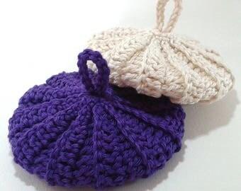 Tawashis cotton 9 cm purple cream duo